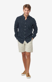Boomerang - LINUS LINEN T.A. FIT B.D. SHIRT - Midnight blue