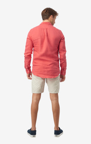 Boomerang - LINUS LINEN T.A. FIT B.D. SHIRT - Faded red