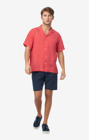 Boomerang - EBBE SOLID S.S. SHIRT - Faded red