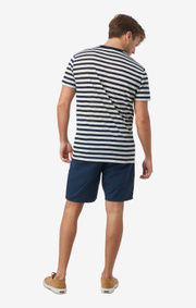Boomerang - HÅKAN STRIPED T-SHIRT - Midnight blue