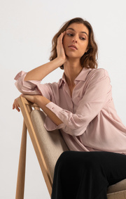 Boomerang - Camilla solid shirt  - Pale blush