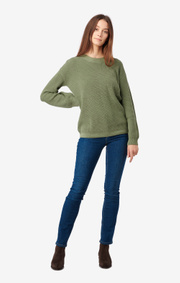 Boomerang - MARY ORGANIC COTTON SWEATER - Amazon green