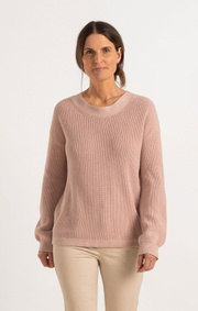 Boomerang - MARY ORGANIC COTTON SWEATER - Pale blush