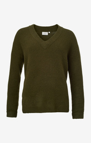 Boomerang - Rutan v-neck sweater - Winter moss