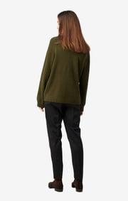 Boomerang - Rutan v-neck sweater - Winter moss