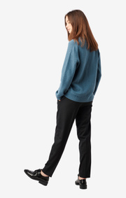 Boomerang - Rutan v-neck sweater - Blue dusk