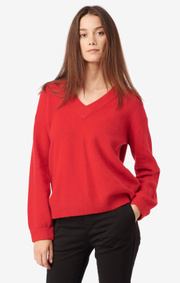 Boomerang - RUTAN V-NECK SWEATER - Postbox red