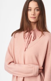 Boomerang - RUTAN V-NECK SWEATER - Pale blush