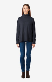 Boomerang - EBBA POLO SWEATER - Night sky