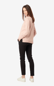 Boomerang - EBBA POLO SWEATER - Pale blush
