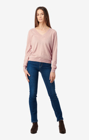 Boomerang - SALA V-NECK SWEATER - Pale blush