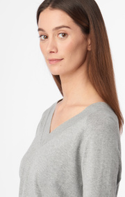 Boomerang - SALA V-NECK SWEATER - Grey melange