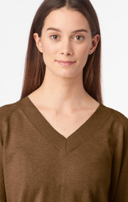 Boomerang - Sala v-neck sweater - Cinnamon