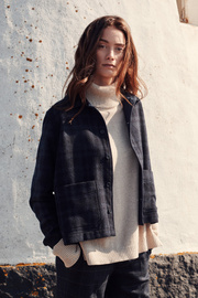 Boomerang - MARIA CHECK OVERSHIRT - Night sky