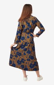 Boomerang - SALLY PRINTED DRESS - Cinnamon