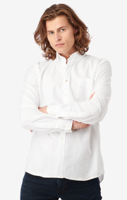Boomerang - NILS ORGANIC COTTON SOLID OXFORD T.A. FIT B. SHIRT - White
