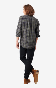 Boomerang - Daniel flanel shirt tailored fit - Grey melange