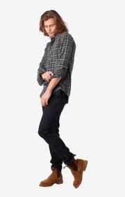 Boomerang - DANIEL THIN FLANEL SHIRT - Grey melange