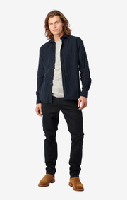 Boomerang - ARVID CORD SHIRT CUT AWAY - Midnight blue