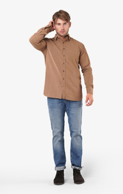 Boomerang - Arvid shirt tailored fit - Otter