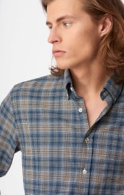 Boomerang - PATRIK CHECK SHIRT - Midnight blue