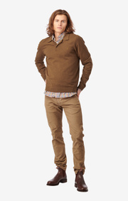 Boomerang - SIMON COTTON CASHMERE POLO SWEATER - Cinnamon