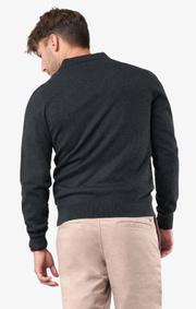Boomerang - Simon polo sweater  - Dk grey mela