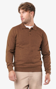 Boomerang - Simon polo sweater  - Cinnamon