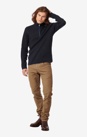 Boomerang - Melvin half zip sweater - Night sky