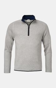Boomerang - Melvin half zip sweater - Grey melange