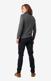 Boomerang - Esbjörn turtle neck sweater  - Grey melange