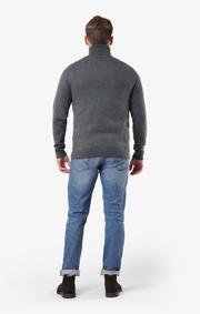 Boomerang - Esbjörn turtle neck sweater  - Grey melange