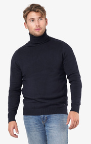 Boomerang - Esbjörn turtle neck sweater  - Night sky