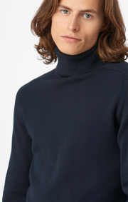 Boomerang - ESBJÖRN TURTLE NECK SWEATER - Night sky