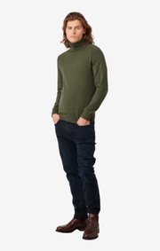 Boomerang - ESBJÖRN TURTLE NECK SWEATER - Amazon green