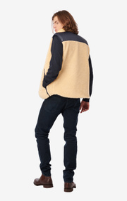 Boomerang - JACK REVERSIBLE PADDED FLEECE GILLET - Sand