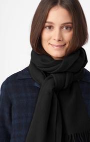 Boomerang - Wool scarf farsta - Black