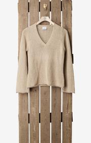 Boomerang - TYRA KNITTED SWEATER - Khaki beige