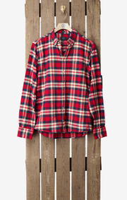 Boomerang - FLANNEL CHECK SHIRT - Cardinal red