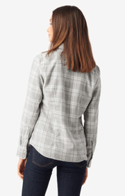Boomerang - ANJA CHECKED SHIRT - Lt grey melange