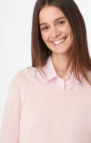 Boomerang - Knopp sweater - Powder pink