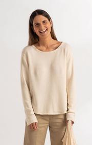 Boomerang - Knopp sweater - Offwhite