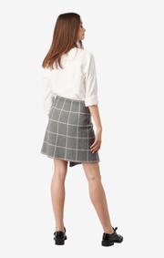 Boomerang - Ursula knitted skirt - Dk grey mela