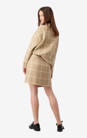 Boomerang - Ursula knitted skirt - Khaki beige