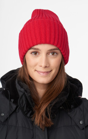 Boomerang - FROST KNITTED CAP - Deep red