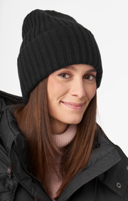 Boomerang - FROST KNITTED CAP - Black