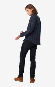 Boomerang - BLITZEN INDIGO CHECK SHIRT - Dark Indigo