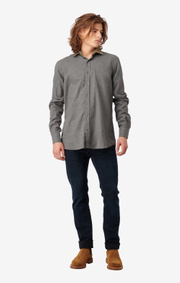 Boomerang - Flemming shirt tailored fit - Dk grey mela