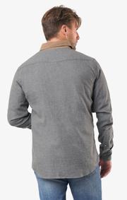 Boomerang - Flemming shirt tailored fit - Dk grey mela