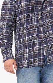 Boomerang - Chuck flanel shirt tailored fit - Midnight blue